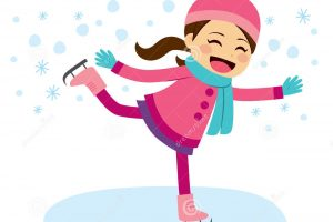 ice skates clipart Unique Little Girl clipart skating Pencil and in color little girl