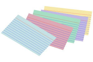 index cards clipart 2