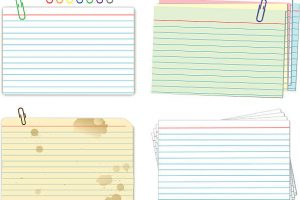 index cards clipart 3