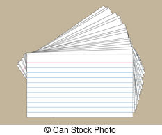 index cards clipart