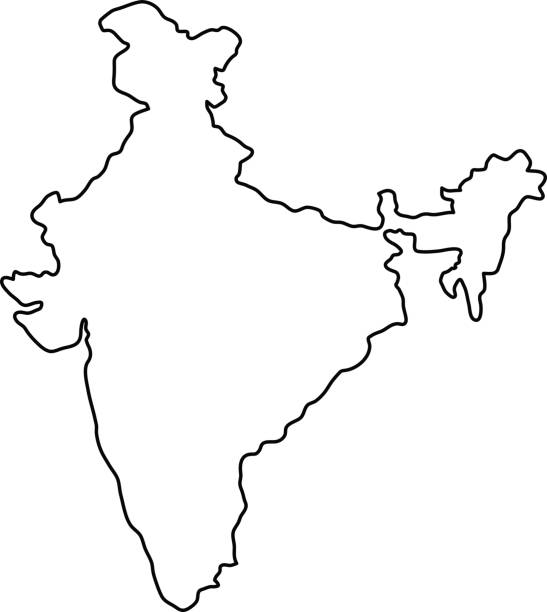 India Map Clipart Black And White 8 » Clipart Station