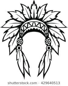 b6c82081bea Indian headdress clipart black and white 5 » Clipart Station