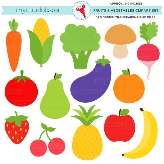 Individual Fruits And Vegetables Clipart 1 Clipart Station