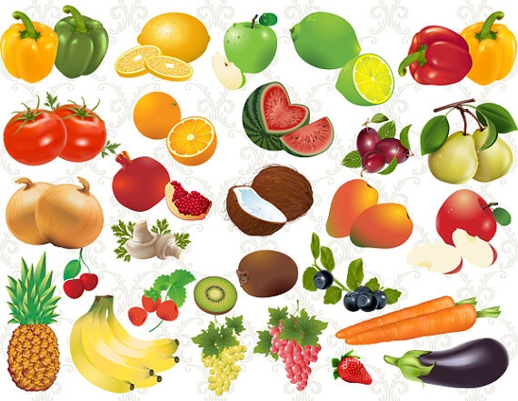Individual fruits and vegetables clipart 6 » Clipart Station