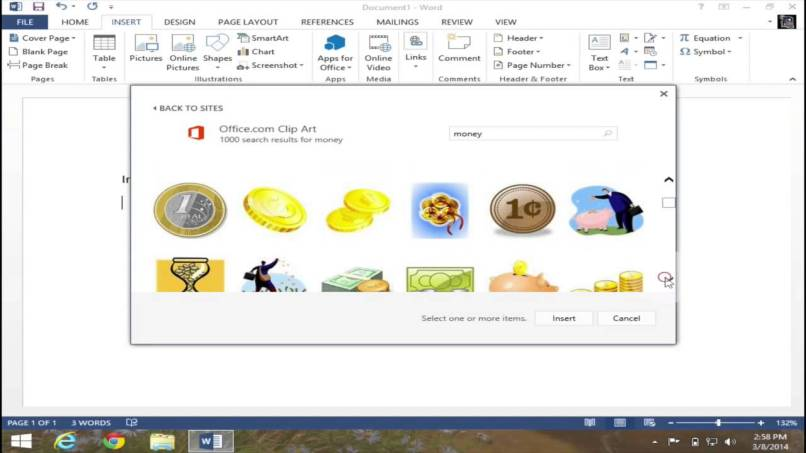 what is clipart in word 2013