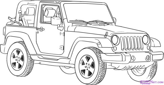 Jeep Black And White Clipart 5 Clipart Station