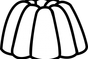 jelly clipart black and white 1