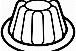 jelly clipart black and white 2