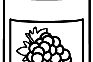 jelly clipart black and white