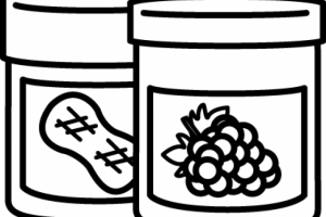 jelly clipart black and white 4