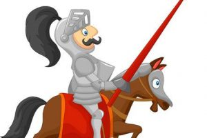 jousting knight clipart 3