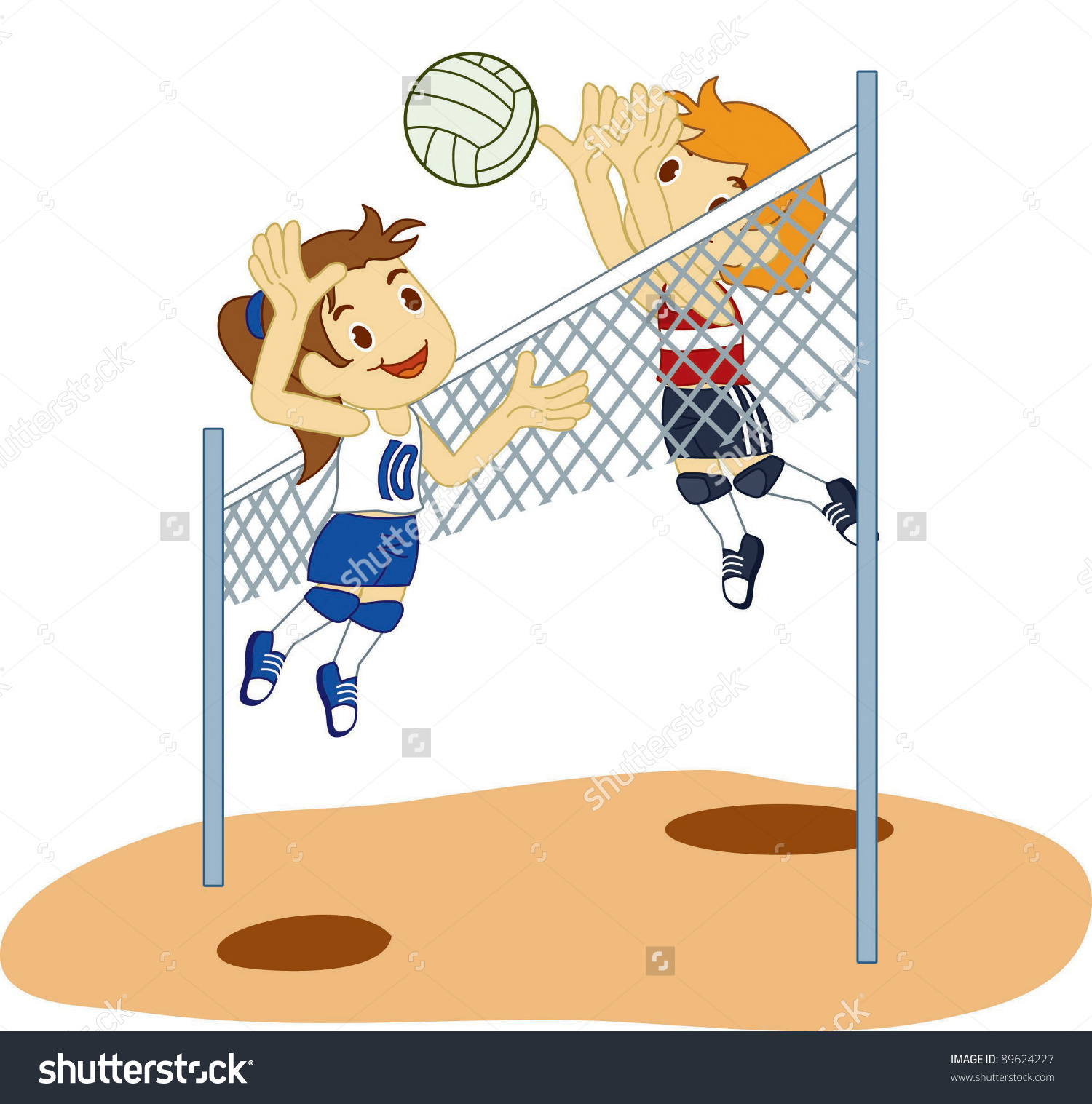 Volleyball playing. Kids clipart station