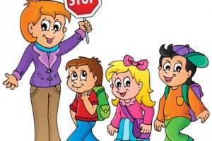 kids walking clipart 1