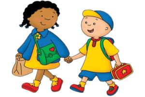 kids walking clipart 2