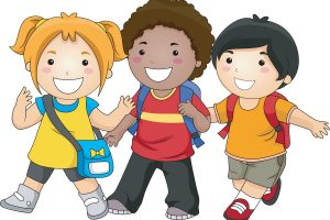 kids walking clipart 3
