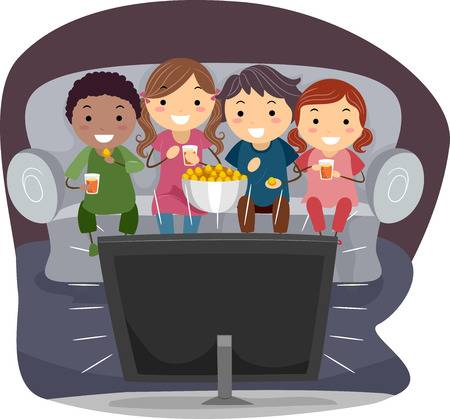 Fun Vectors, Photos and PSD files | Free Download |Kids Watching Movie Clipart