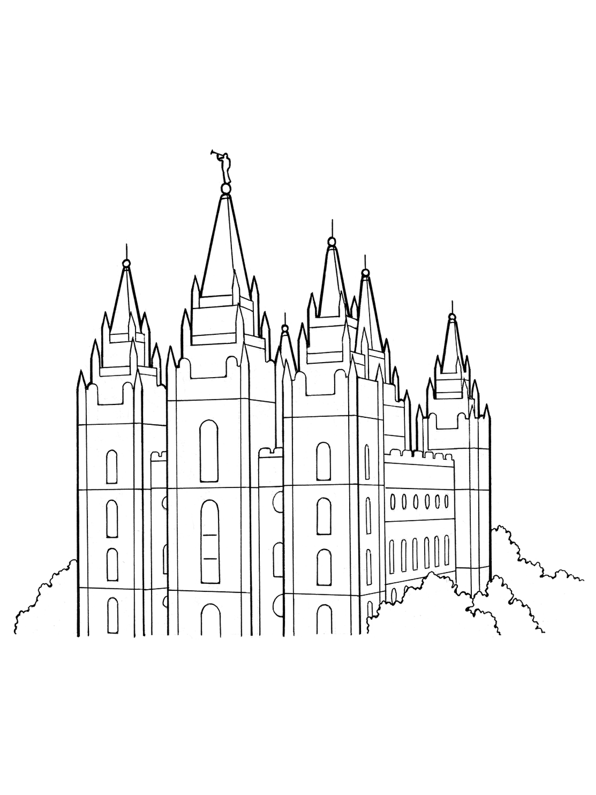Lds Temple Clipart Black And White 4 Clipart Station