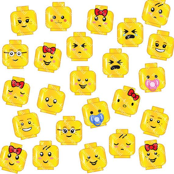 photo about Printable Lego Faces identify Lego faces clipart 6 » Clipart Station