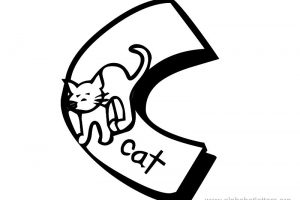 letter c clipart black and white 1