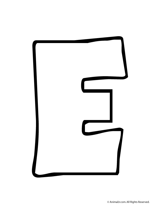 Letter E Clipart Black And White For Letter E Clipart Black And