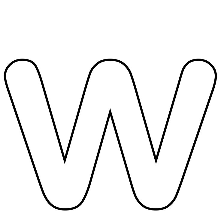 Letter W Clipart Black And White 3 Clipart Station