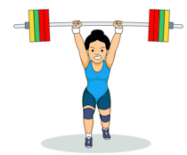 Woman Lifts Weights For Strength Training Clipart