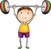 lifting weight clipart 5