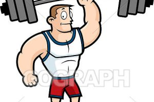 lifting weight clipart 8