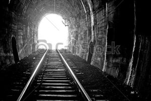 light at the end of the tunnel clipart 1