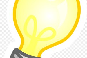 light bulb clipart no background 1