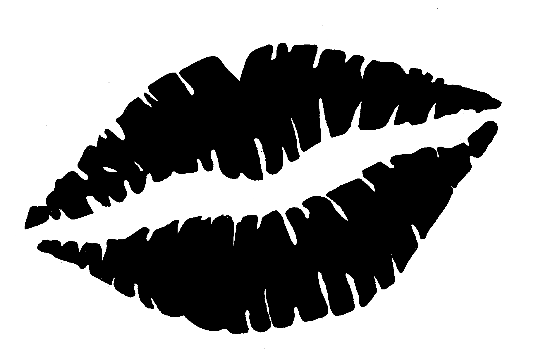 Kiss black white. Lips clipart and awesome