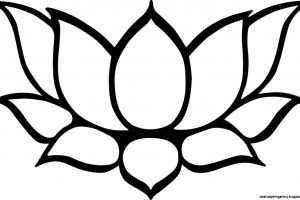 Lotus Flower Clipart Black And White Clipart Station