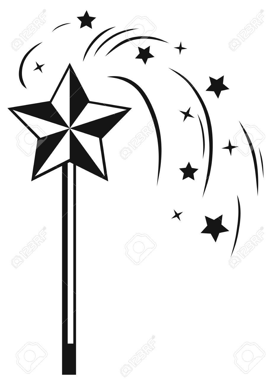 Magic wand clipart black and white 4 » Clipart Station