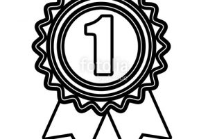 medal clipart black and white