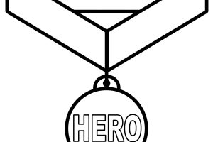 medal clipart black and white 4