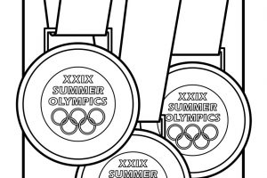 medal clipart black and white 5
