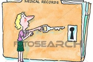 Stock Illustration Of Patient Access To Medical Record X17764578 within Medical Documents Clipart