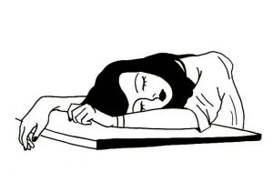 nap clipart black and white 1
