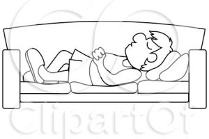 nap clipart black and white 4