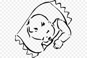 nap clipart black and white 5