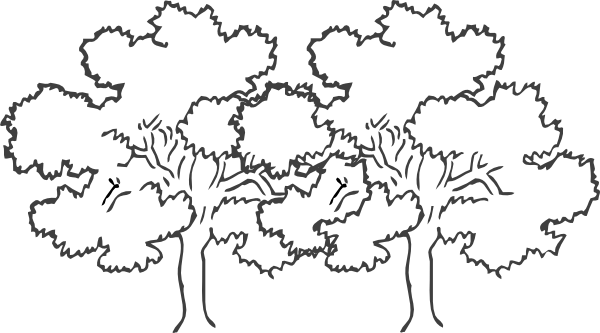 Narra Tree Clipart Black And White 4 Clipart Station