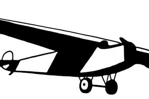 old airplane clipart 2