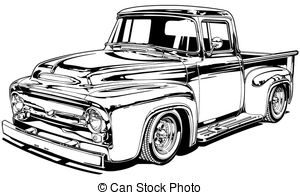 old chevy truck clipart 2