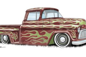 old chevy truck clipart 3