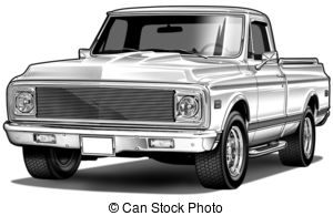 old chevy truck clipart 4
