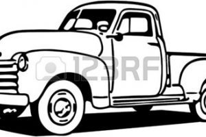 old chevy truck clipart 5