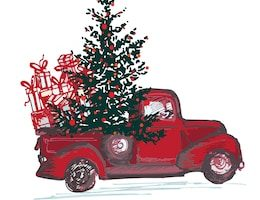 old chevy truck clipart 6