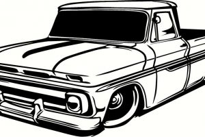 old chevy truck clipart 7