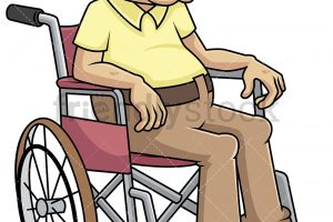 Disabled old man in wheelchair – PNG, vector EPS, PDF (infinitel