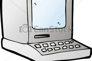 old computer clipart 1